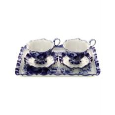 Чайный набор с Гжельской росписью Для двоих