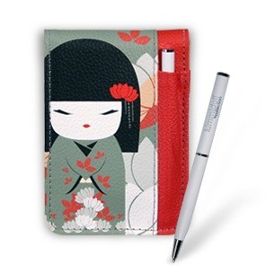 Блокнот со съёмным чехлом и ручкой «Акико»