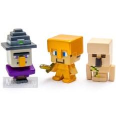 Набор фигурок Mattel: золотой Стив, Голем, Ведьма