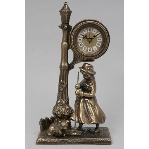 Часы-фигура из бронзы Virtus «Девочка под часами»