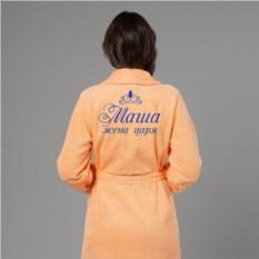 Женский халат с вышивкой Жена царя