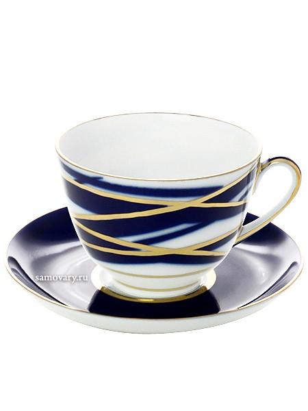 Чайный фарфоровый сервиз с рисунком Кокон