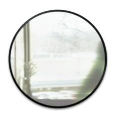 Черное настенное зеркало Hub