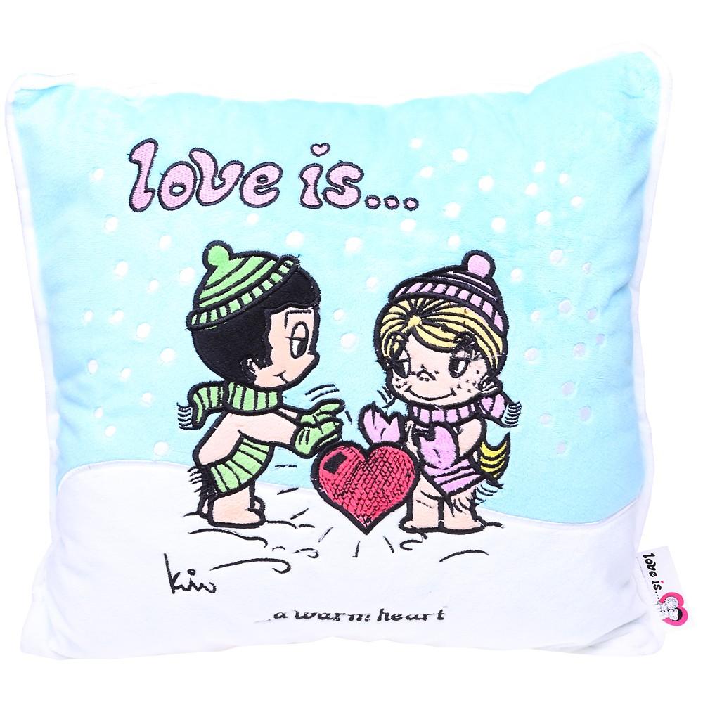 Подушка Love is...a warm heart