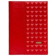 Красный ежедневник формата А5 «Геометрия»