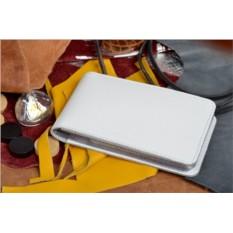 Белая кожаная карманная визитница Elole Design