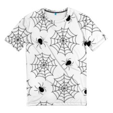 Белая мужская футболка Паутинка