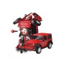 Модель автомобиля-трансформера MZ jeep rubicon red 1:14