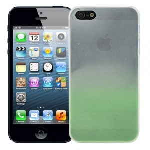 Чехол для iPhone 5/5s Dip-Dye lime