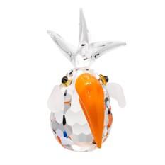 Хрустальная статуэтка Оранжевый попугай Кая