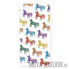 Чехол для IPhone 5 Цветные лошадки