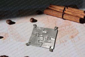 Комплект серебряных кулонов Пазлы