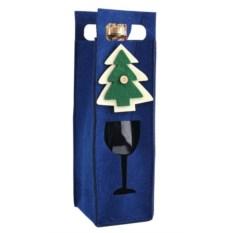 Декоративный чехол для бутылки в виде новогодней елки
