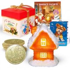 Набор с новогодней свечой «Сказочный домик»