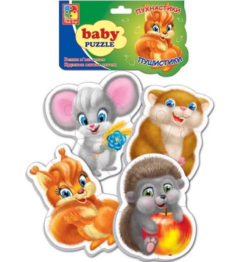 Мягкие пазлы Baby puzzle Пушистики