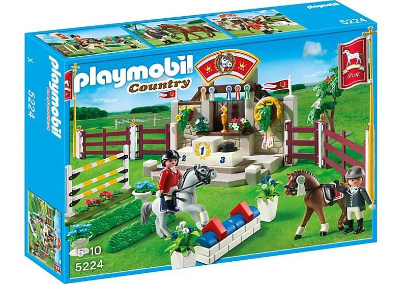 Конструктор Playmobil Манеж для выездки и конкура. Лошади