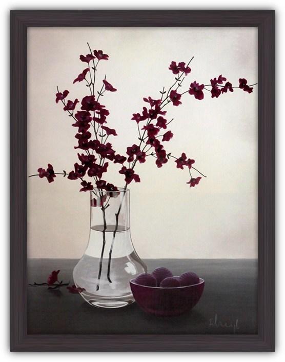 Постер Королевский цветок II (Фиолетовые цветы в вазе)