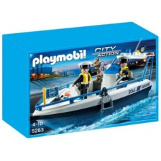 Конструктор Playmobil City Action Cargo Патрульный катер