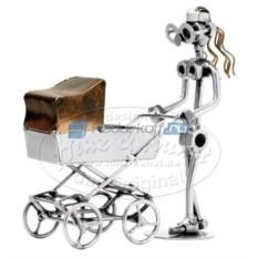 Статуэтка из металла Мама с коляской
