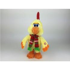 Поющая и танцующая игрушка Петух с шарфом