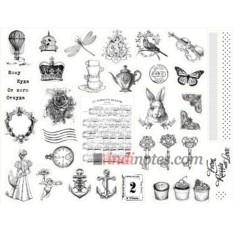 Лист виниловых наклеек Mail art - 3