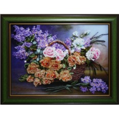 Картина с кристаллами Сваровски Натюрморт: Цветы