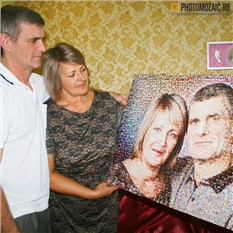 Фотомозаика в подарок семье