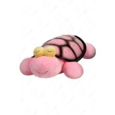 Ночник-проектор звездного неба Черепаха (цвет: розовый)