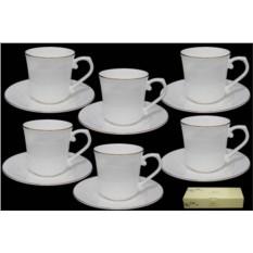 Чайный набор Ангел, 12 предметов (костяной фарфор)