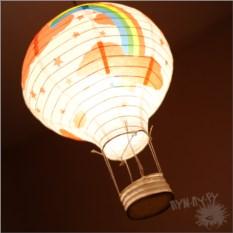Бумажный фонарик Радуга