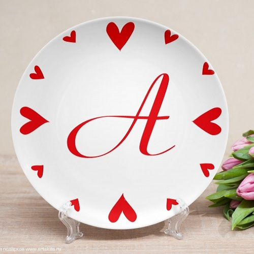 Именная тарелка Часики