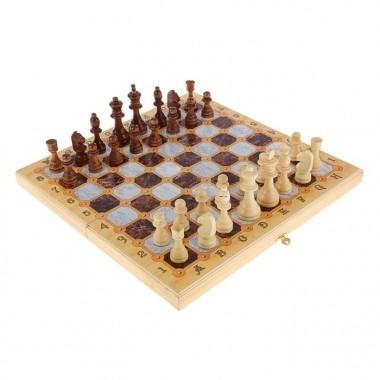 Подарочный набор игр Шахматы-нарды-шашки с доской Мрамор