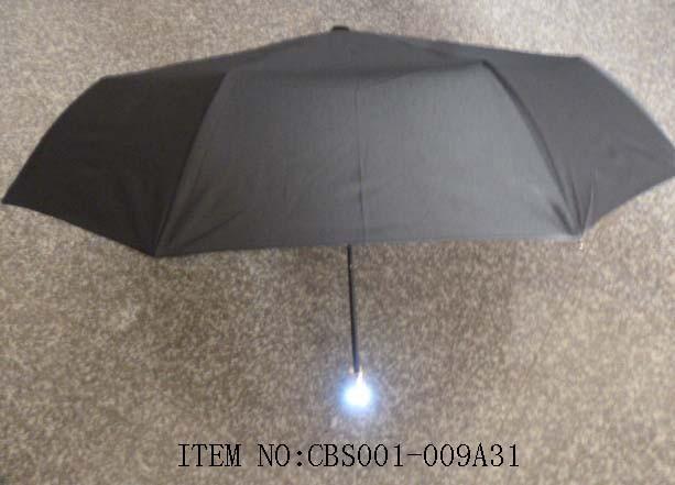 Зонт с ручкой в виде серого черепа (с подсветкой)