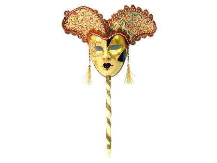 Венецианская маска с ручкой «Гобелен»