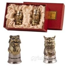 Набор из 2-х стопок-перевертышей Тигр и рысь