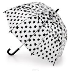 Детский зонт Fulton с черными звездочками