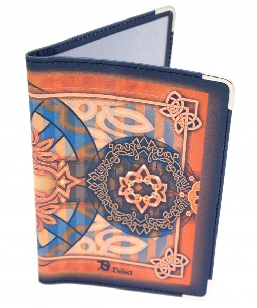 Кожаная обложка для паспорта Орнамент