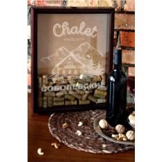 Рамка-копилка для пробок с вашим текстом Chalet