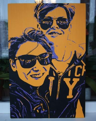 Поп-арт портрет 40х60 см