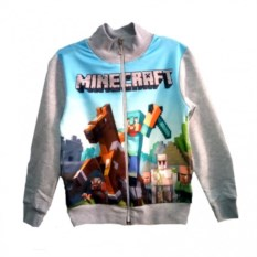 Олимпийка Minecraft Стив на лошади