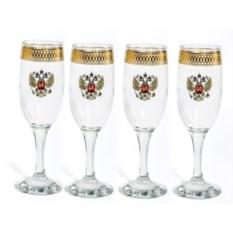 Подарочный набор бокалов для шампанского Герб