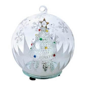 Новогодняя ёлка в шаре с меняющей цвет подсветкой
