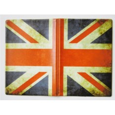 Кожаная обложка на права Британский флаг