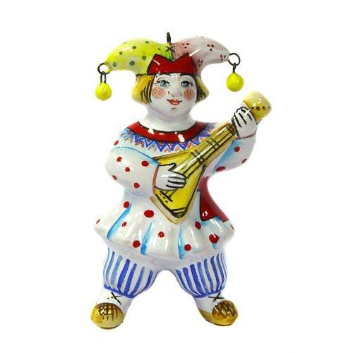 Ёлочная игрушка Скоморох с балалайкой