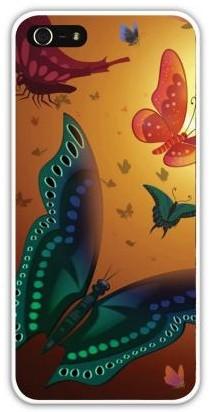 Чехол-накладка для iphone 5/5S, мотыльки