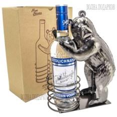 Металлическая подставка под бутылку Русский медведь