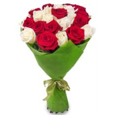 Букет из 21 розы (70см)