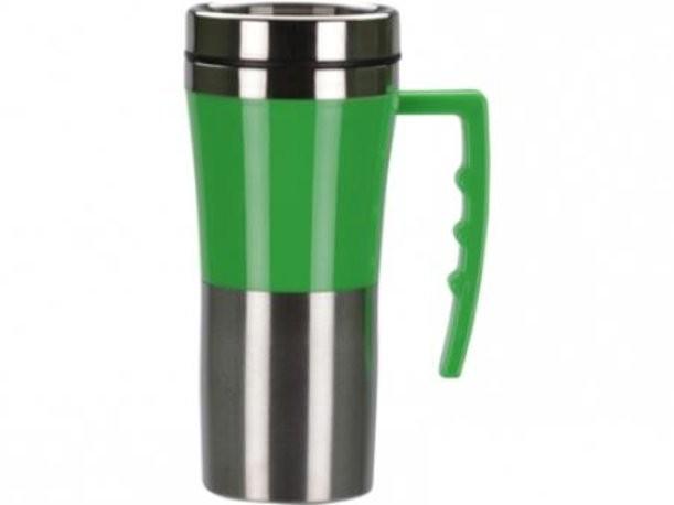 Зеленая кружка с термоизоляцией на 450 мл
