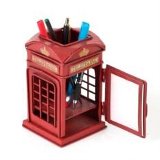 Фоторамка с подставкой для ручек Телефонная будка