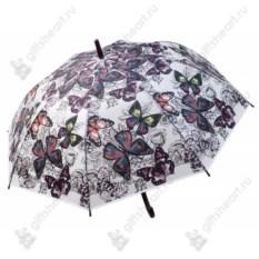 Зонт-трость Розовые мотыльки